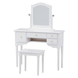 <B>【セール!】【Feminine Wood Furniture】</B>フェミニンな白家具♪ドレッサーセット・ホワイト(W90×D30×H120cm)<img class='new_mark_img2' src='https://img.shop-pro.jp/img/new/icons24.gif' style='border:none;display:inline;margin:0px;padding:0px;width:auto;' />
