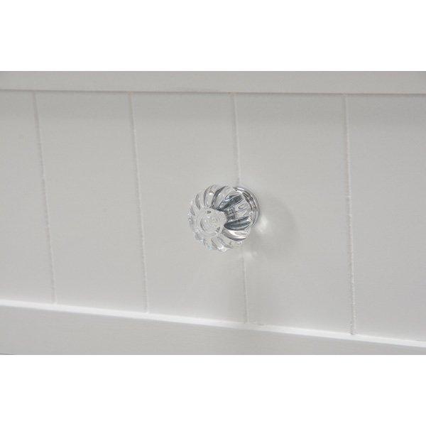 【セール!】白家具・クリスタル調取っ手♪ランドリーチェスト・ホワイト(W41×D31×H93cm)