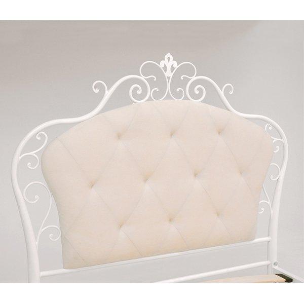 【セール!】 デザインベッド♪ウッドスプリング シングルサイズ・ホワイト(W110×D208cm)