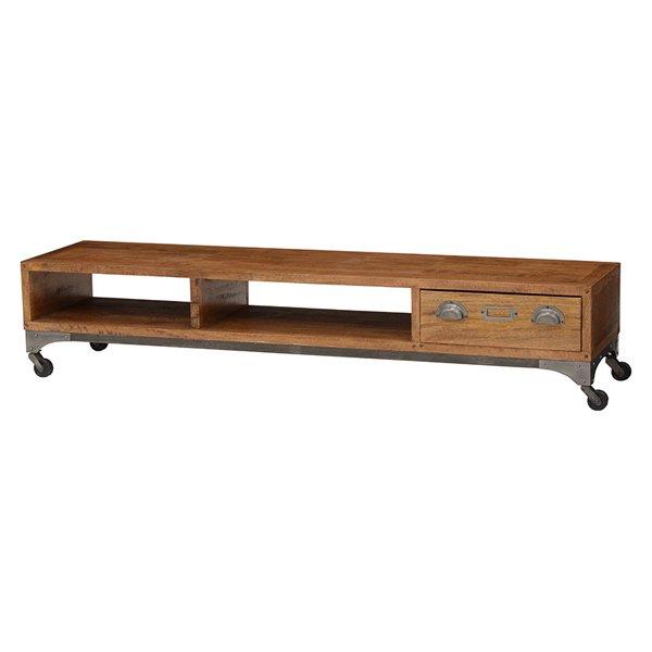 【セール!】【LIBERTA】インダストリアルスタイル家具 リビングボード(W150×D37×H30cm)