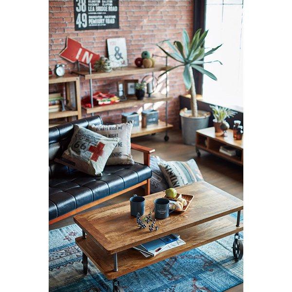 【セール!】【LIBERTA】 インダストリアルスタイル家具 ワゴン(W48×D34.5×H67cm)