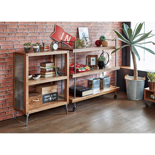 【セール!】【LIBERTA】 インダストリアルスタイル家具 ラック(W76×D35×H97cm)