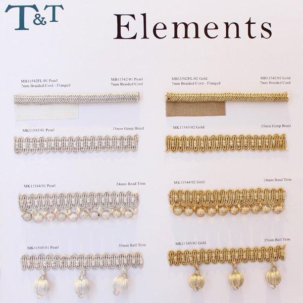 【英国T&T社】 「ELEMENTS」ビーズ・トリム(1m〜)※海外取寄せ品