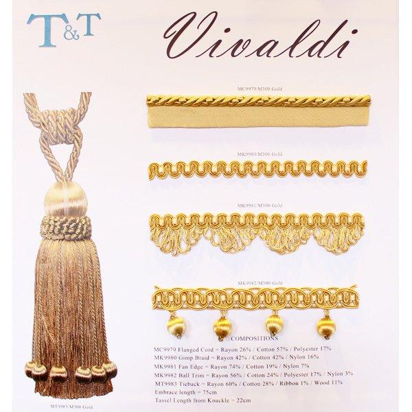 【英国T&T社】 「VIVALDI」ボールフリンジ(25m/巻)※海外取寄せ品