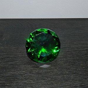<b>【即納可!】</b>キラキラ♪ダイヤモンド型ペーパーウェイト・グリーン(8×5cm)