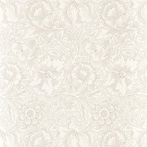 輸入壁紙<b>【PURE WALLPAPERS】</b>PURE MORRIS イギリス「Pure Poppy」(52cm巾×10m巻)