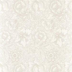 輸入壁紙<b>【PURE WALLPAPERS】</b>PURE MORRIS イギリス「Pure Poppy」(52cm巾×10m巻)