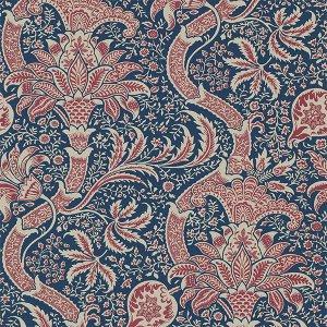 輸入壁紙<b>【MORRIS ARCHIVE IV】</b>MORRIS&Co. イギリス「Indian」(52cm巾×10m巻)