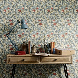 輸入壁紙<b>【MORRIS ARCHIVE WALLPAPERS III】</b>MORRIS&Co. イギリス「Arbutus」(52cm巾×10m巻)