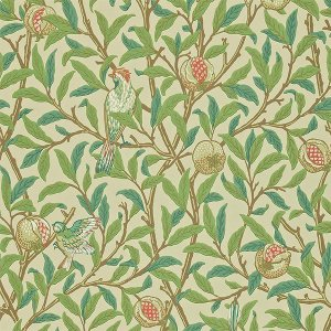 輸入壁紙<b>【MORRIS ARCHIVE WALLPAPERS II】</b>MORRIS&Co. イギリス「Bird & Pomegranate」(52cm巾×10m巻)