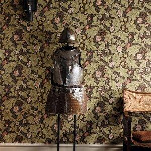 輸入壁紙<b>【MORRIS ARCHIVE WALLPAPERS II】</b>MORRIS&Co. イギリス「Leicester」(52cm巾×10m巻)