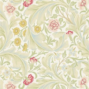 輸入壁紙<b>【MORRIS ARCHIVE WALLPAPERS II】</b>MORRIS&Co. イギリス「Leicester」(52cm巾×10m巻)