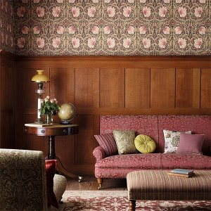 輸入壁紙<b>【MORRIS ARCHIVE WALLPAPERS】</b>MORRIS&Co. イギリス「Pimpernel」(52cm巾×10m巻)