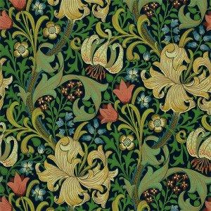 輸入壁紙<b>【MORRIS VOLUME II WALLPAPERS】</b>MORRIS&Co. イギリス「Golden Lily」(52cm巾×10m巻)
