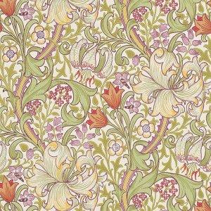 輸入壁紙<b>【MORRIS ARCHIVE WALLPAPERS】</b>MORRIS&Co. イギリス「Golden Lily」(52cm巾×10m巻)