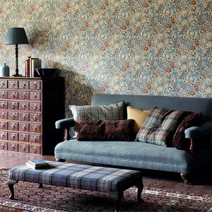 輸入壁紙<b>【MORRIS ARCHIVE WALLPAPERS】</b>MORRIS&Co. イギリス「Golden Lily」(52cm巾×10m巻)