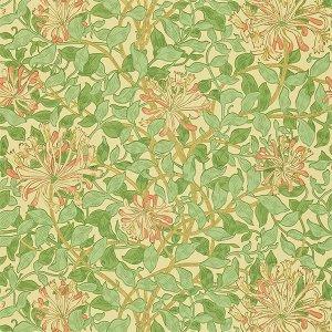 輸入壁紙 MORRIS&Co. イギリス「Honeysuckle」(52cm巾×10m巻)