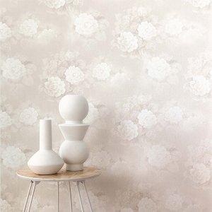 輸入壁紙<b>【AQUA】</b>KHR&#212;MA ベルギー「Rosy」(53cm巾×10m巻)