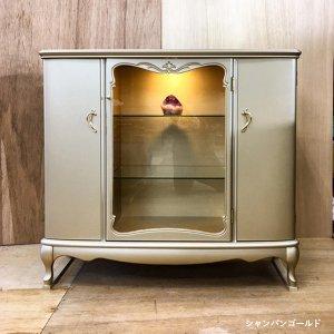 国産・高級ロココ家具【カンティーニュ】サイドボード1000(W1000×D360×H900)