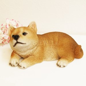 <b>【入荷未定】</b>アニマルオブジェ♪柴犬・リラックス(W18.2×D11.4×H9cm)<img class='new_mark_img2' src='https://img.shop-pro.jp/img/new/icons47.gif' style='border:none;display:inline;margin:0px;padding:0px;width:auto;' />