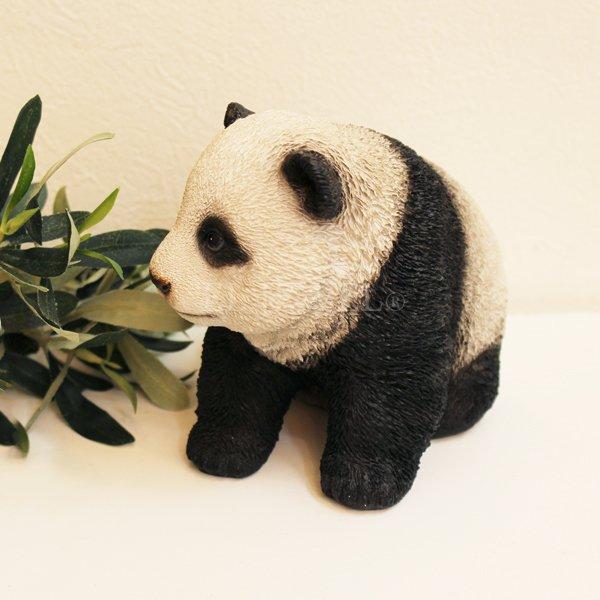 【即納可!】 アニマルオブジェ♪ベビーパンダ・ハイハイ(W14×D13×H12cm)