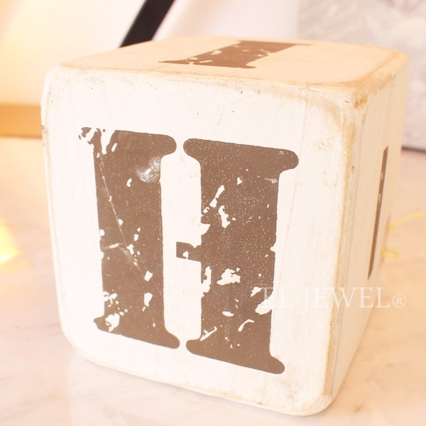 【即納可!】 木製サイコロ・ホワイトS・アルファベット(F/G/H/I/J/-)