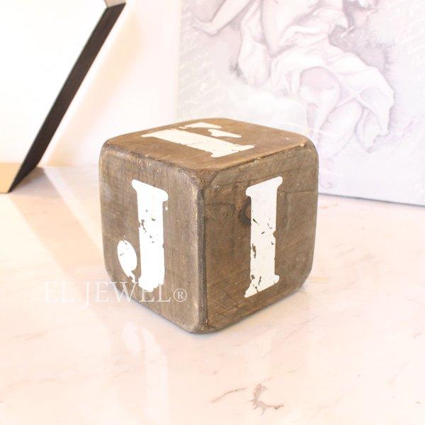 【即納可!】 木製サイコロ・ブラウンS・アルファベット(F/G/H/I/J/-)