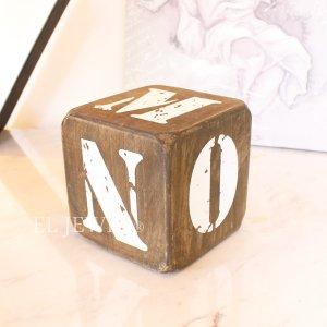 <b>【即納可!】</b>木製サイコロ・ブラウンS・アルファベット(K/L/M/N/O/@)