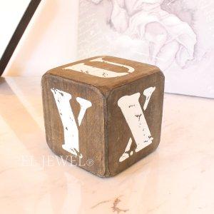 <b>【即納可!】</b>木製サイコロ・ブラウンS・アルファベット(U/V/W/X/Y/Z)