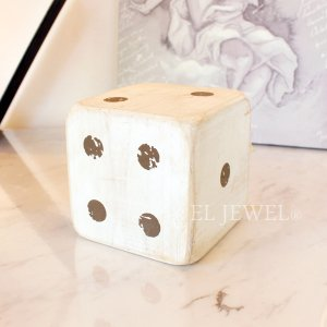 <b>【即納可!】</b>木製サイコロ・ホワイトS