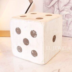 <b>【即納可!】</b>木製サイコロ・ホワイトL