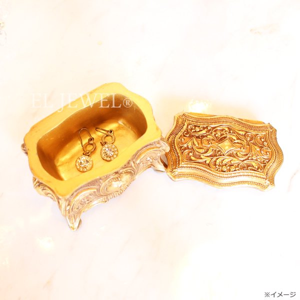 【即納可!】 アンティーク調バロックゴールド・ミニボックス(W9×H6cm)