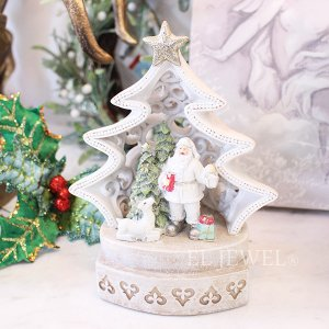 <b>【即納可!】</b>クリスマス☆LEDライト付ツリードーム・サンタ&ツリー・A(H19cm)<img class='new_mark_img2' src='https://img.shop-pro.jp/img/new/icons1.gif' style='border:none;display:inline;margin:0px;padding:0px;width:auto;' />