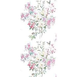 輸入壁紙<b>【WATERPERRY WALLPAPERS】</b>Sanderson 英国「Magnolia & Blossom Panel A」(137cm巾×3m パネル)