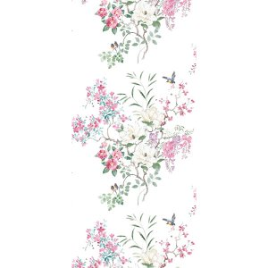輸入壁紙<b>【WATERPERRY WALLPAPERS】</b>Sanderson 英国「Magnolia & Blossom Panel B」(137cm巾×3m パネル)