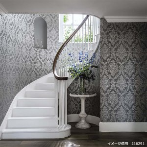 輸入壁紙<b>【WATERPERRY WALLPAPERS】</b>Sanderson 英国「Riverside Damask」(68.6cm巾×10m巻)