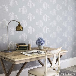 輸入壁紙<b>【WATERPERRY WALLPAPERS】</b>Sanderson 英国「Bay Willow」(52cm巾×10m巻)
