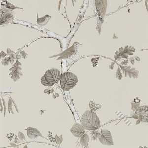 輸入壁紙<b>【WOODLAND WALK WALLPAPERS】</b>Sanderson 英国「Woodland Chorus」(52cm巾×10m巻)