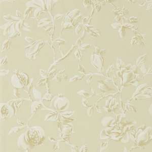 輸入壁紙<b>【WOODLAND WALK WALLPAPERS】</b>Sanderson 英国「Magnolia & Pomegranate」(68.6cm巾×10m巻)