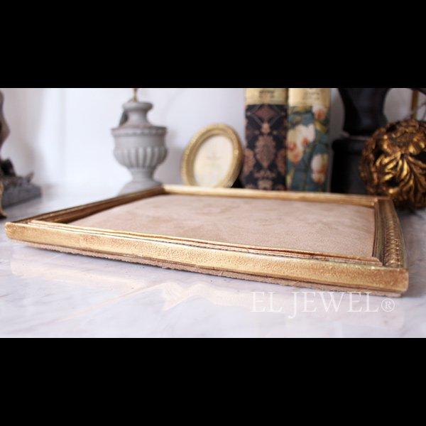 【即納可!】アンティーク調アクセサリーフレームL・ゴールド(28×23cm)