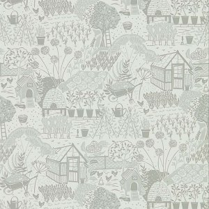 輸入壁紙<b>【POTTING ROOM WALLPAPERS】</b>Sanderson 英国「The Allotment」(68.6cm巾×10m巻)