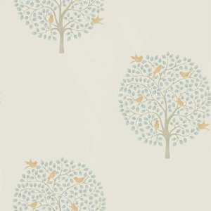輸入壁紙<b>【POTTING ROOM WALLPAPERS】</b>Sanderson 英国「Bay Tree」(52cm巾×10m巻)