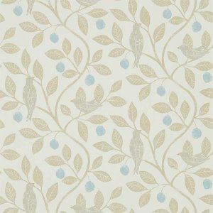 輸入壁紙<b>【POTTING ROOM WALLPAPERS】</b>Sanderson 英国「Damson Tree」(68.6cm巾×10m巻)
