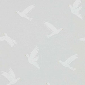輸入壁紙<b>【POTTING ROOM WALLPAPERS】</b>Sanderson 英国「Paper Doves」(52cm巾×10m巻)