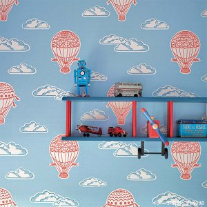 輸入壁紙<b>【ABRACAZOO WALLPAPERS】</b>Sanderson 英国「Balloons」(52cm巾×10m巻)