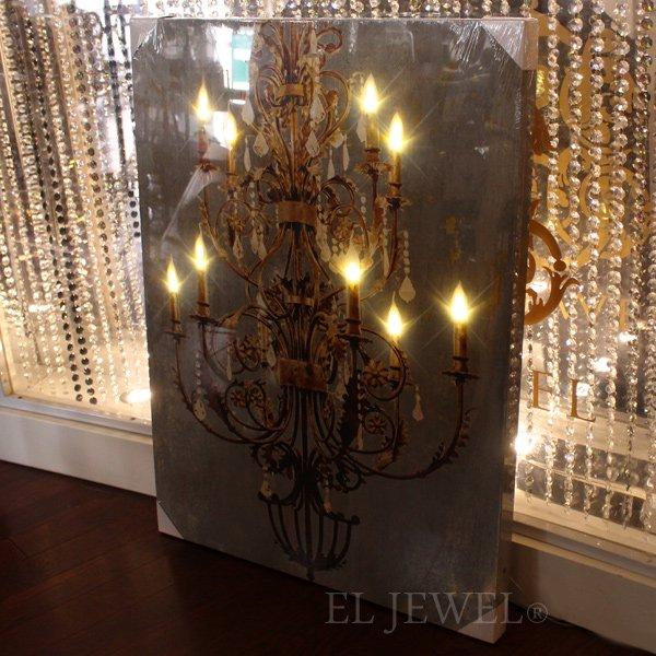 【入荷未定】【A&B Home】 LEDライトシャンデリアウォールデコ・B(60×H80cm)