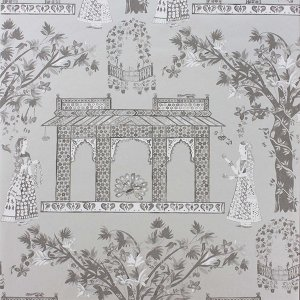 輸入壁紙<b>【LES R&#202;VES WALLPAPERS】</b>Nina Campbell 英国「Pavilion Garden」(52cm巾×10m巻)