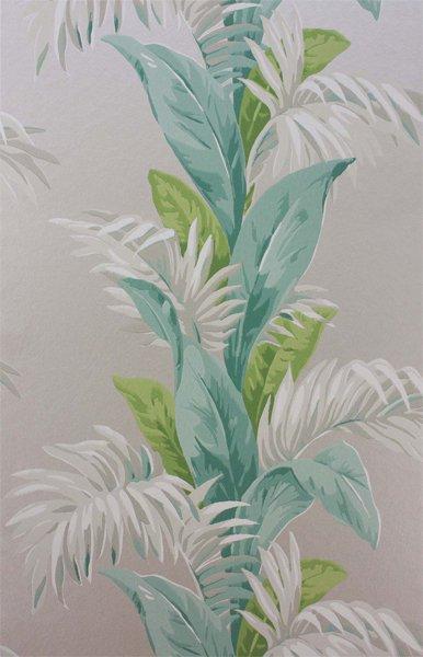 輸入壁紙 【COROMANDEL WALLPAPERS】 Nina Campbell 英国「Palmetto」(52cm巾×10m巻)