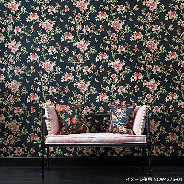 輸入壁紙 【COROMANDEL WALLPAPERS】 Nina Campbell 英国「Perdana」(52cm巾×10m巻)