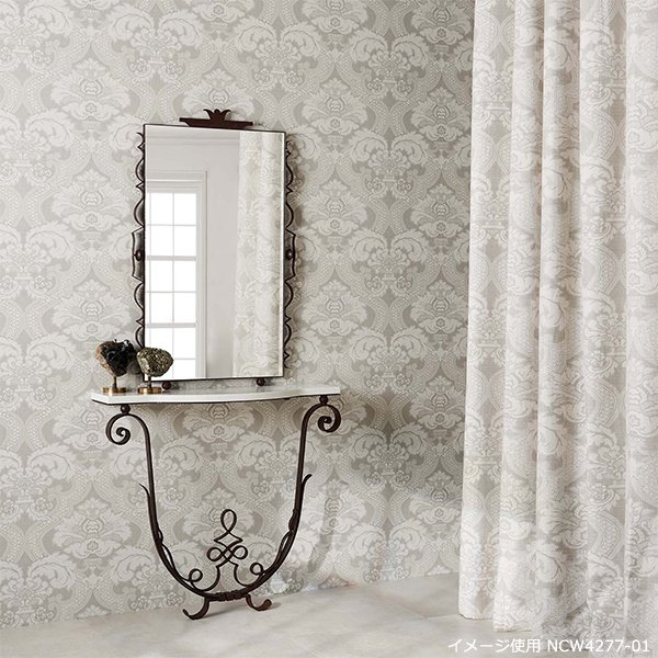 輸入壁紙 【COROMANDEL WALLPAPERS】 Nina Campbell 英国「Meredith」(52cm巾×10m巻)